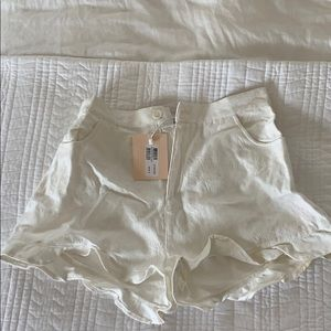 white mink pink shorts